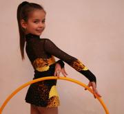 Прокат - купальник для художественной гимнастики рост 116-122